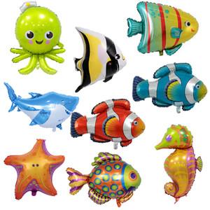 Акула Осьминог воздушный шар Морской конек Воздушные шары в форме животных Малыш Алюминиевая пленка Воздушный шар Тонкий и легкий Multipl Стили 2 4lm C1