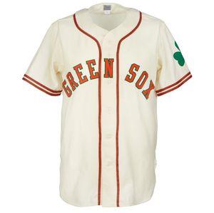 Dublino Green Sox 1952 Home Jersey 100% ricamo ricamo logos vintage baseball maglie personalizzate qualsiasi nome qualsiasi numero spedizione gratuita