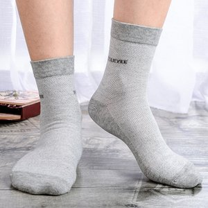 2019 pure cotton men's breathable sweat-absorbing business middle Medium and socks tube stockings men's socks
