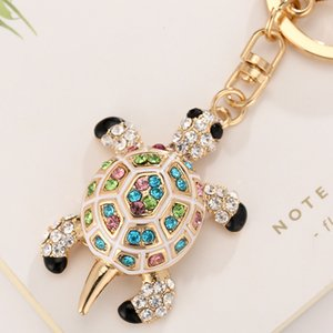 hediye Kaplumbağa Kaplumbağa Keyrings Kristal Anahtarlık Güzel Kaplumbağalar Çanta kolye İçin Araç Anahtarlıklar Tutucu Halkalar