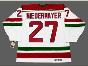 Custom Men Youth women Vintage #27 SCOTT NIEDERMAYER New Jersey Devils 1992 CCM Hockey Jersey Size S-5XL or custom any name or number
