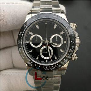 18 colori Men Watch superiore meccanico automatico orologio da polso in acciaio bracciale in ceramica 40 millimetri lunetta Sapphire 116500 Cosmograph Dive orologi