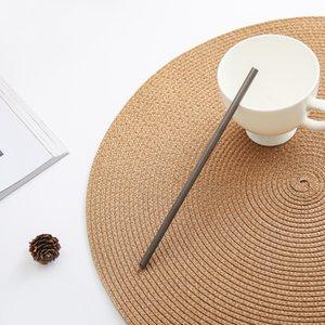 cannucce titanio Outdoor Tablewares con il regalo 1 scopa titanio curva cucina paglia cannucce potabile campeggio esterno