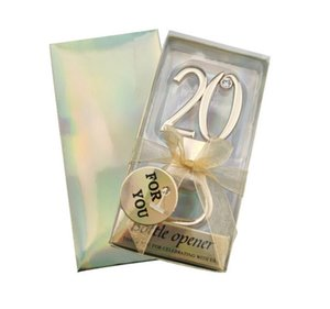 20th Event and Party Decoration Favors of 20th Bottle Favors for 20th Wedding anniversary gifts and birthday favors 20Pcs