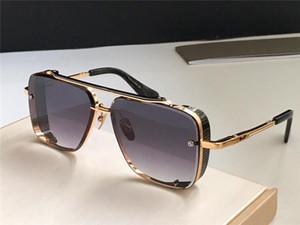 Новые роскошные популярные TOP очки ограниченного тиража SIX мужчин Дизайн K золото ретро квадратный кадр кристалла резка объектива с сеткой отделяемой