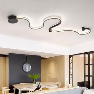 S-Courve LED LED lampes à LED pour salon balcon salle de chambre acrylique décor à la maison en blanc noir de fer de fer noir SCONCE NORDIC LED lumières luminaires