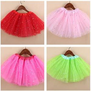 Ropa para niñas Vestidos de niña 3Layer Tulle Cake Skirt Kids Dance Wear Boutique de niños Tutu Dance Skirt Baby Outfit 4-8T XZT067