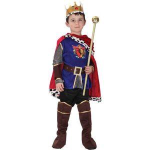 Anime Halloween Carnaval De Noël Enfants Scène Cosplay Costume Prince Roi Cos 7pcs Effectuent Costume Prop Baguette Magique Enfants Garçons