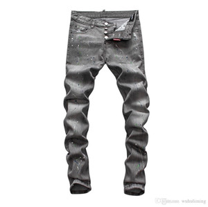 SS20 Top Quality Brand Designer Men Denim Biker Jeans Embroidery Pants Fashion Holes Trousers Italy New Style Famous Brand Jeans