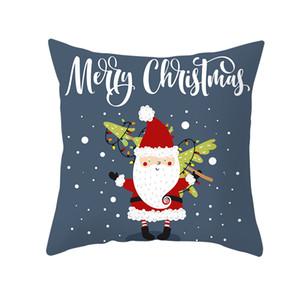 Hallow Christmas Pillow Case Santa Cotton Sofa Car Throw Cushion Cover Home Decor