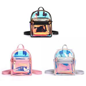 New Fashion Clear See Through PVC Mini Zaino Donna Adolescente Scuola Book Bag Laser Jelly Zaino trasparente