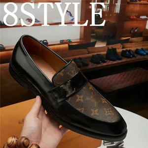19FS Handmade Genuine Patent Leather And Nubuck Leather Patchwork With Bow Tie Men Wedding Black Dress Shoes Men's Banquet Loafers US6-11