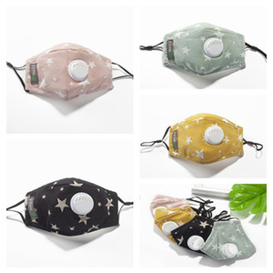 Newest children's mask with breathing valve 5 layers of PM2.5 filter piece protection three-dimensional washing and adjusting latest childre