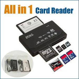Hot All-in-1 portátil All In One Mini Card Reader multi em 1 USB 2.0 Memory Card Reader DHL