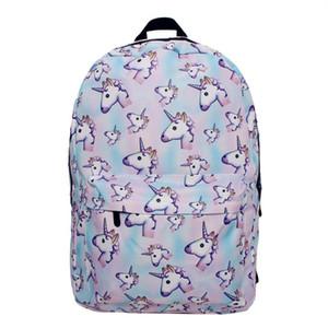 취학 전 여자 유아 가방 패션 어깨 가방에 대한 디자이너 - 경량 유니콘 배낭 여자 학교 가방 어린이 Bookbags