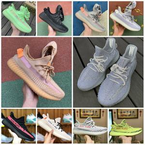 Designs 2019 Original V2 estática Argila Homens Mulheres sapatos baratos 3M reflexiva Shoes verdadeira forma hiperespaço Kanye West corredor da onda do instrutor das sapatilhas