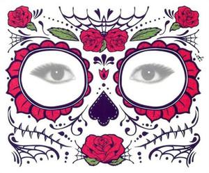2019 el más nuevo adhesivo de sombra de ojos desechable Magic Eye Face Lace Style Tatuaje temporal a prueba de agua para belleza Makup Stage Halloween Party DHL