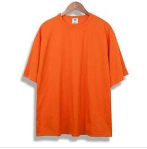 oversized t shirt homme Kanye west clothes Season style t-shirt hip hop tshirt streetwear mens t shirts orangeec91#