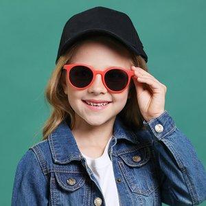 infantil Classic Cat Eye Sunglasses niña y niño Kid gafas de sol polarizadas de los vidrios anti-ultravioleta del diseño del bebé de la moda del
