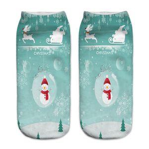 Natale Calzini unisex del fumetto Elk Pupazzo di Santa Calze Donna taglio basso alla caviglia di Natale Calzini Calcetines Mujer