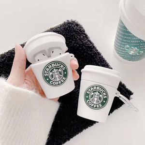 Pour AirPod Pro cas blanc cas Starbucks Coupe de protection en silicone pour Apple AirPod 2 1 Ecouteur Box Cover charge