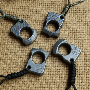 Andy Frankart SFK anillo de un solo dedo TC4 Titanium Autodefensa puñetazos al aire libre Hebilla Bolsillo de supervivencia EDC Nudillos nudillos Múltiples herramientas