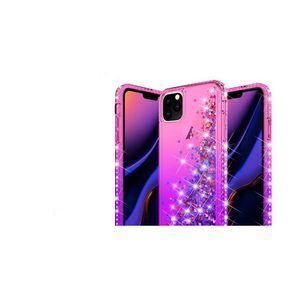 Iphone Yeni 11 2019 Samsung Note için Darbeye Bataklık Yumuşak TPU Kılıf 10 Pro Plus Kalp Gradyan Kromlu Lux Bling Sıvı Kaplama Kapak