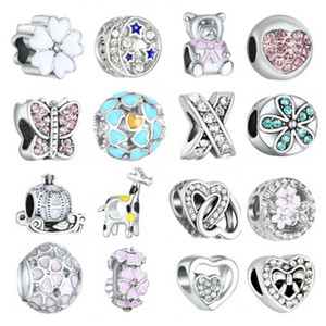 Mixed Charms Herz-Stern-Bär Krone Hirsch vier Blatt butterful Charme Perlen passen für Armband Halskette Armband Diy Schmuck Accessoires
