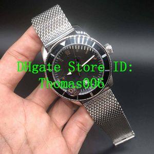 Super Super Ocean II Montres-bracelets Cadran Noir AB201012 BF73 automatique Mens Watch Ocean Classic Montres Bracelet en acier inoxydable