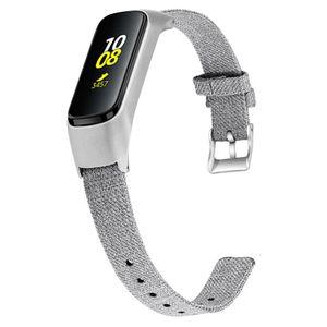 Samsung Galaxy Fit-E R375 Moda Tuval Değiştirme Saat Kayışı + Metal Frame 94006 İçin saat kordonu