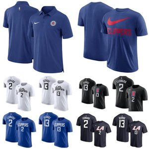 Men LosAngelesClippers2 kawhiLeonard 13 PaulGeorge 23 LouisWilliams Icon Player Number polo T-Shirt