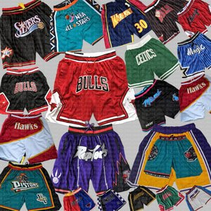 Los Angeles Chicago Bulls Toronto Raptors Basketball Shorts Juste Orlando Magic pantaloncini Brooklyn Grizzlies Nets Seattle piston Do