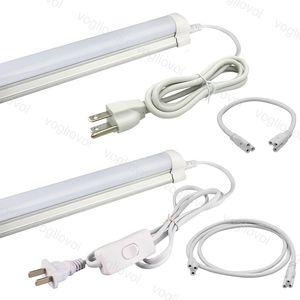 T5 T8 Câble de câble Câble de câble Câble d'alimentation avec câble US PVC pour le fil de LED intégré DHL