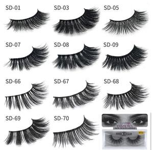 Heißer Verkauf !! Neue 20 Arten 3D Mink Wimpern Wimpern Messy Augenwimpernverlängerung Sexy Wimpern voller Streifen Eye Lashes falsche Wimpern DHL