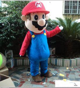 Large luxury l super Mario bros. mascot costume adult beautiful evening dress, free shipping