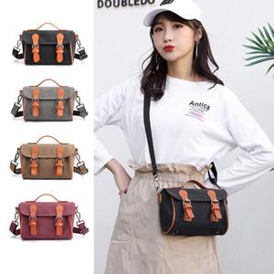 ABAY 여자를 위해 자루에 넣습니다 2020 년 패션 캔버스 여성 핸드백 솔리드 색상 메신저 부대 패션 소녀를 어깨에 매는 가방 여자의 몸