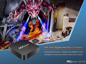 DHL MX2 MXQ PRO Quad Core Amlgoic S905W Android 7.1 TV BOX With Customized KD 17.4 TV Box 4K Media Player