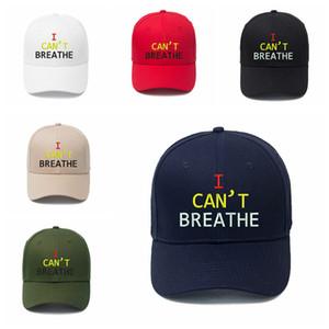 Eu não posso respirar Baseball Hat letra impressa bordado Outdoor Verão snapbacks I Cant respiração Caps Party Hats 7 Cores RRA3123