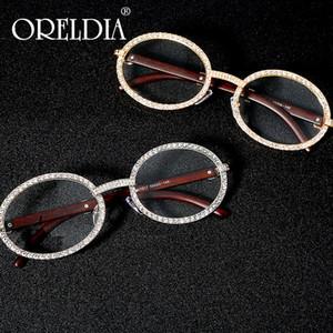 جولة خمر مكعب الزركون نظارات شمس رجل جديد فاخر النساء البيضاوي الماس نظارات موضة الهيب هوب نظارات UV400 gafas دي سول موهير MX200527