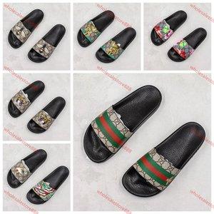 Gucci sandals xshfbcl 2020 luxe Fashion Rubber Slide Sandale für Männer Frauen Blumendruck flache Hausschuhe Größe Lässige Slipper Flip Flops Innenaufnahme Strand 36-45