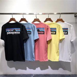 Nueva marca de Verano diseñador de la camiseta de los hombres en moda mujer paisaje impresión de manga corta de alta calidad de algodón Casual tees de 7 colores M-2XL