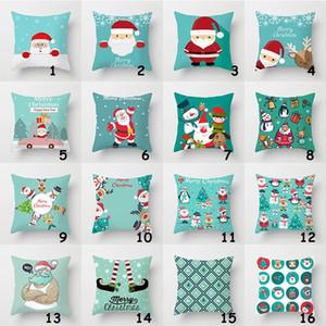 Housse de coussin de noël Santa Claus taie d'oreiller voiture canapé taie d'oreiller chaise d'extérieur chaise taille coussins cas Joyeux Noël Présent