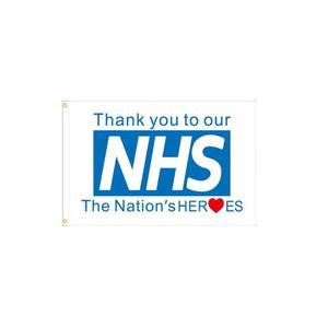 Gracias a nuestro NHS Bandera 3x5ft poliéster impresión del equipo del club de deportes de interior con 2 arandelas de latón, envío libre