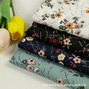 2 m / lot Coton Imprimé Fleur Tissu Popeline Tissu Tissu Tissu pour Chemise Habillée Headtie Chapeau Chaussures Accessoires