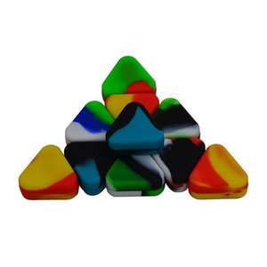 nonstick Triangle Silicone Wax Container Box 1.5ml Silicone Jars Dry Herb Wax Box Container Dab free ship