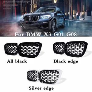 Пара Новый алмаз стиль решетка для BMW X3 New G01 G08 2018 Гонки Грили Передняя решетка нефрологических Три стиля