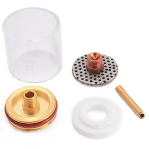 Kit ugello di Freeshipping 5Pcs Tig Cannello da saldatore Cup Champagne Cup Stubby Gas Collet per Wp-9/20/25 3/32 pollici 2,4 mm