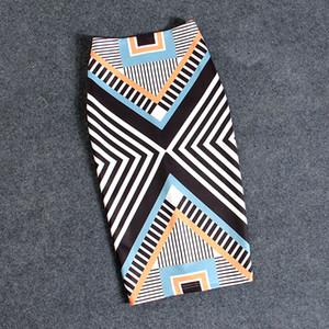 여성 스커트 캐쥬얼 프린트 꽃 펜슬 스커트 섹시한 바디콘 스커트 스트레치 스커트 플러스 사이즈 22Colors Faldas Mujer
