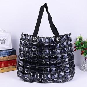 Moda Şişme Çanta Kadın Su Geçirmez Çanta Fermuar Katı PVC Şişme Çanta Plaj Alışveriş Bayan Kabarcık Çanta GGA2634