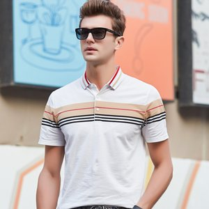 2020 New striped Brand Designer Clothing Polo Shirt Mens Summer Slim Fit Short Sleeve Stand Collar Polos Casual Mens Clothing T200528